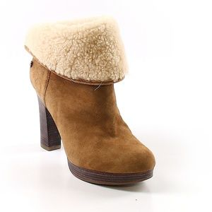 UGG Shearling Suede Ankle Booties / Boots - Sz 8